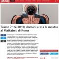 Press review about Talent Prize 2019 on LEGGO / leggo.it