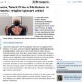 Press review about Talent Prize 2019 on il Messaggero / ilmessaggero.it