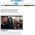 Press Review of Talent Prize 2019 on IL TEMPO / tv.iltempo.it